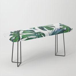 Tropical Palm Leaves Classic Bench