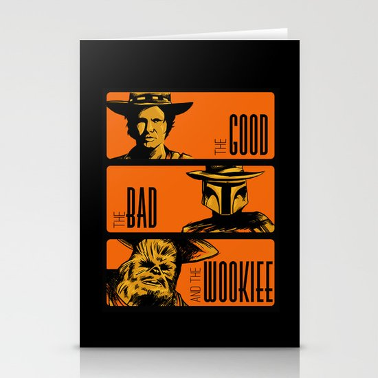 The Good, the bad and the wookiee Stationery Cards
