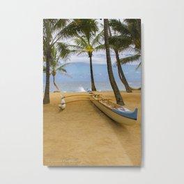 Hawaiian Outrigger Canoe Metal Print