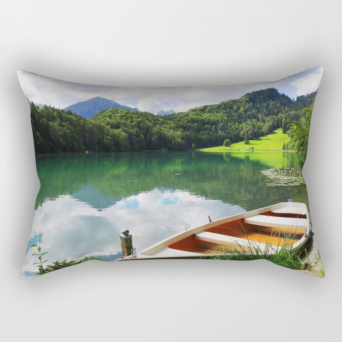 rowing boat on Alatsee Rectangular Pillow