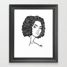 Curly Solonge Framed Art Print