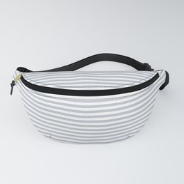 Pale Blue Grey and White Horizontal Stripes Fanny Pack