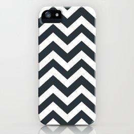 Gunmetal - grey color - Zigzag Chevron Pattern iPhone Case