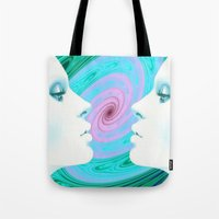 psychedelic Tote Bags featuring Psychedelic by Emi Nellenbach