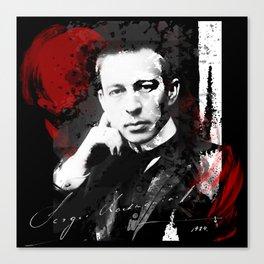 Sergei Rachmaninoff - Russian Pianist, Composer, Conductor Canvas Print