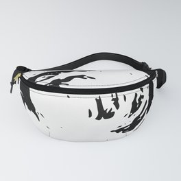 Whorl Black and White Fanny Pack