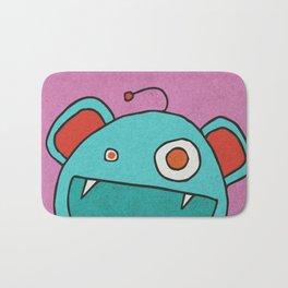 Slightly Amused Monsters, III Aquamarine Bath Mat