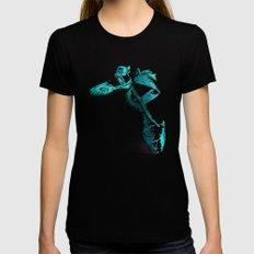 Ballet Shoe Blue Black MEDIUM Womens Fitted Tee