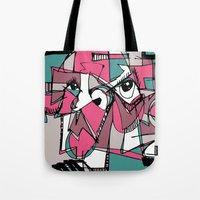 sneaker Tote Bags featuring Sneaker Guy by 5wingerone