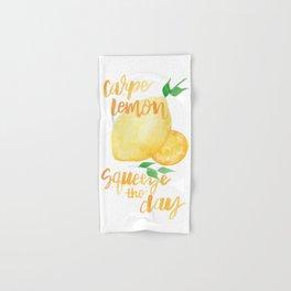 Carpe Lemon : Squeeze the Day Hand & Bath Towel