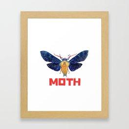 Moth Logo Framed Art Print