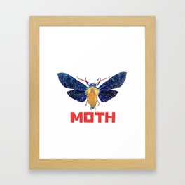 Moth Logo Framed Art Print