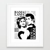 grease Framed Art Prints featuring Grease by megpatton2