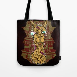 Don't mess with the llama! Tote Bag