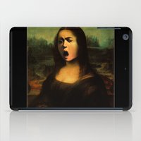 mona lisa iPad Cases featuring Caravaggio's Mona Lisa by Gravityx9
