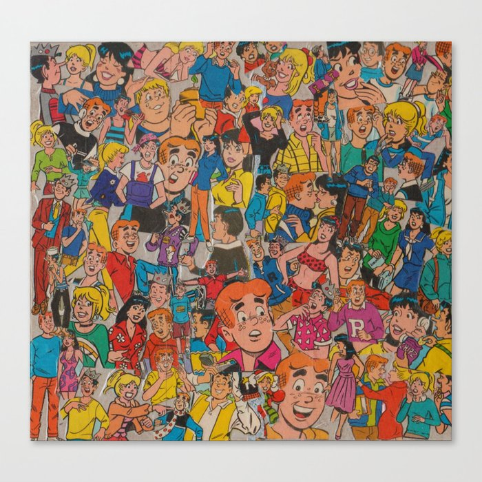 archie comics collage canvas print by carlwithaning society6