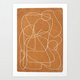 Abstract line art 17 Art Print
