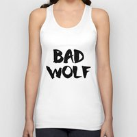 bad wolf Tank Tops featuring Bad Wolf  by Freak Clothing