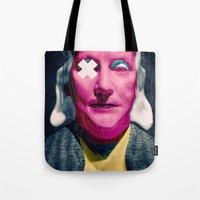 frank Tote Bags featuring Frank by Alec Goss