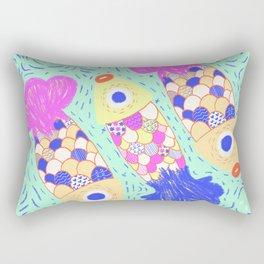 Rainbow Fish Rectangular Pillow