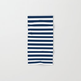 Navy-White ( Stripe Collection ) Hand & Bath Towel