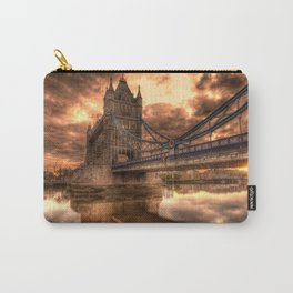 Photo of a gloomy English bridge Carry-All Pouch