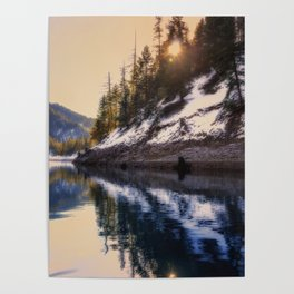 Reflections of a Dream Lake McCloud California Poster