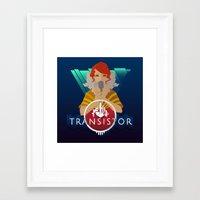 transistor Framed Art Prints featuring TRANSISTOR by Duke
