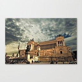 Vittorio Emanuele Monument Palace Rome Italy Canvas Print