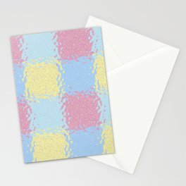 Pastel Jiggly Tile Pattern Stationery Cards