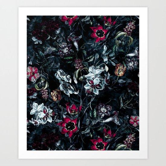 NIGHT GARDEN II Art Print