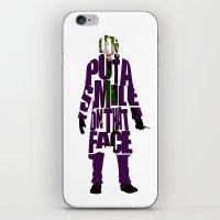 the joker iPhone & iPod Skins featuring Joker by Ayse Deniz
