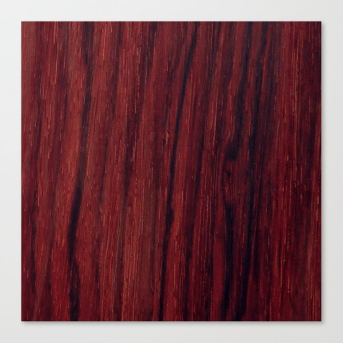 Deep Red Wood Veneer Design Canvas Print By Andulino