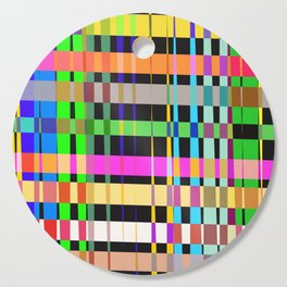 inclined coloured stripes Cutting Board