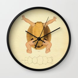 Anatomical Turtle Baby Wall Clock