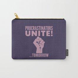 Procrastinators Unite Tomorrow (Purple) Carry-All Pouch