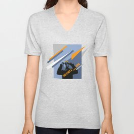 Eighties mood, it's not a love song! Unisex V-Neck