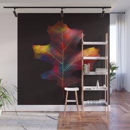 Rainbow Leaf Wall Mural