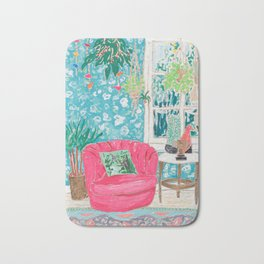 Pink Tub Chair Bath Mat
