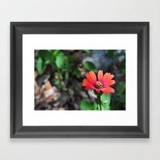 red gradient Framed Art Print