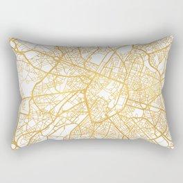 BRUSSELS BELGIUM CITY STREET MAP ART Rectangular Pillow