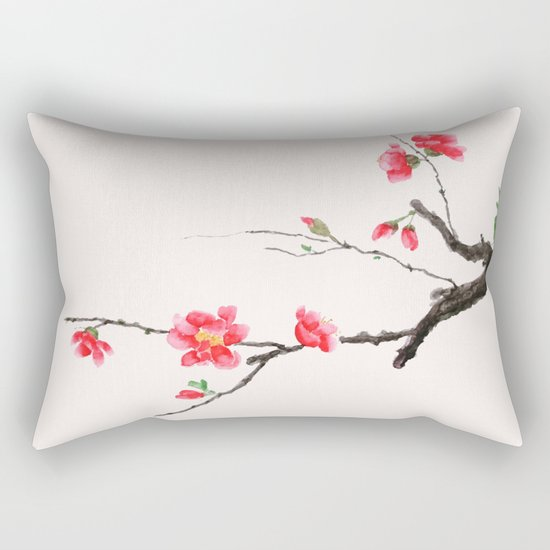 red Japan begonia Rectangular Pillow