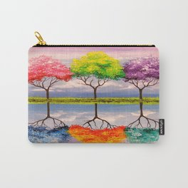 Reflection of trees Carry-All Pouch