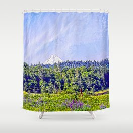 Hood River Oregon - Spring Time In The Hood Shower Curtain