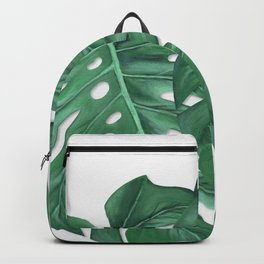 Monstera Leaf Painting Backpack