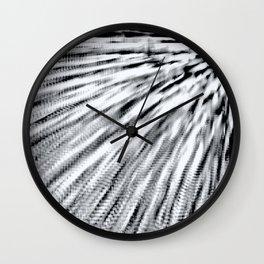 Black & White Pixel Wind Wall Clock