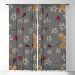 Exotic leaves pattern 22 Blackout Curtain