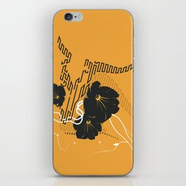 Untitled Art - Orange iPhone Skin
