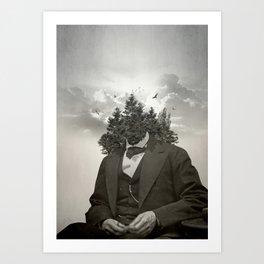 Head in the clouds II Art Print