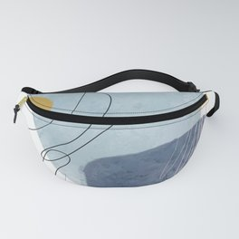 Creative minimalist hand painted abstract arts Fanny Pack